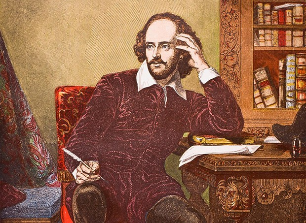 A picture of William Shakespeare while being high on cannabis at Coffeeshop Guru